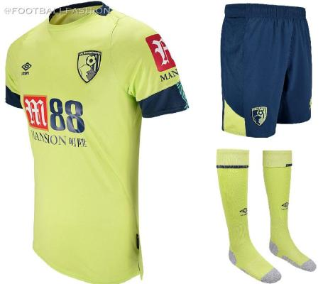AFC Bournemouth 2019 2020 Umbro Third Football Kit, Soccer Jersey, Shirt