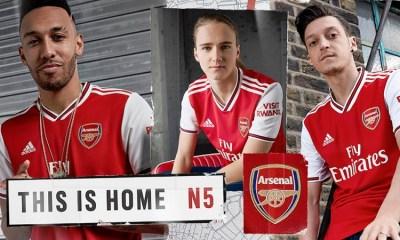 Arsenal FC 2019 2020 adidas Home Football Kit, Shirt, Soccer Jersey, Maillot, Camiseta, Camisa, Trikot, Tenue