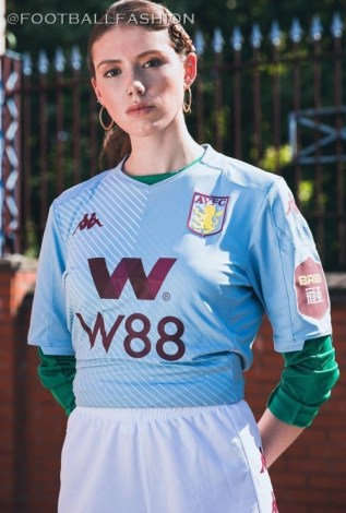 Aston Villa 2019 2020 Kappa Away Football Kit, Soccer Jersey, Shirt