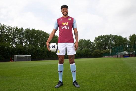 Aston Villa 2019 2020 Kappa Home Football Kit, Soccer Jersey, Shirt