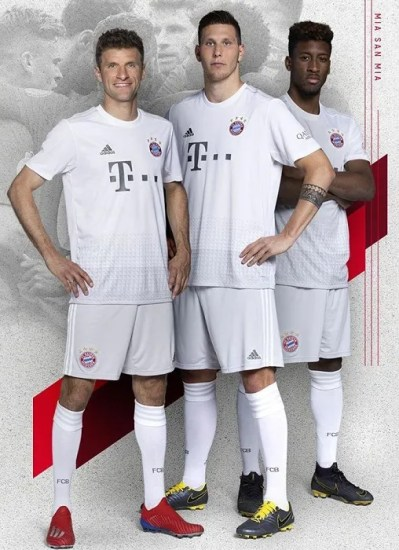 Bayern Munich 2019 2020 adidas Away Football Kit, Soccer Jersey, Shirt, Trikot, Maillot, Tenue, Camisa, Camiseta