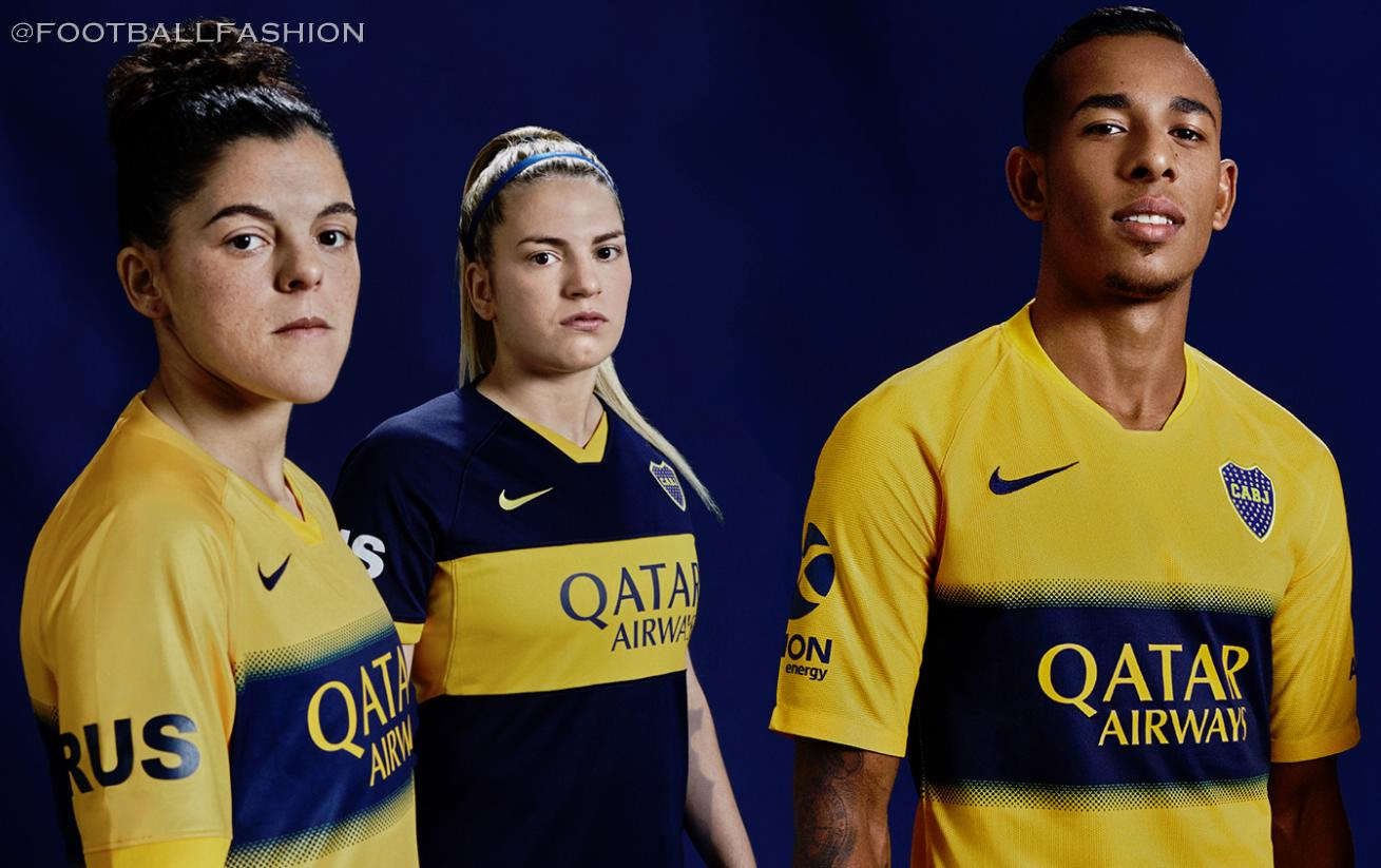 size 40 f73af b2053 Boca Juniors 2019/20 Nike Home and Away Kits - FOOTBALL ...