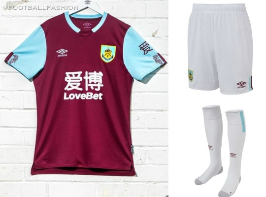 Burnley FC 2019 2020 Umbro Home Football Kit, Soccer Jersey, Shirt