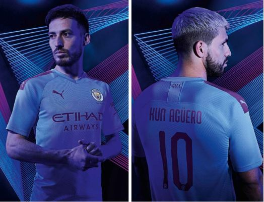 Manchester City FC 2019 2020 PUMA Home and Away Football Kit, Shirt, Soccer Jersey, Maillot, Camiseta, Camisa, Trikot, Tenue