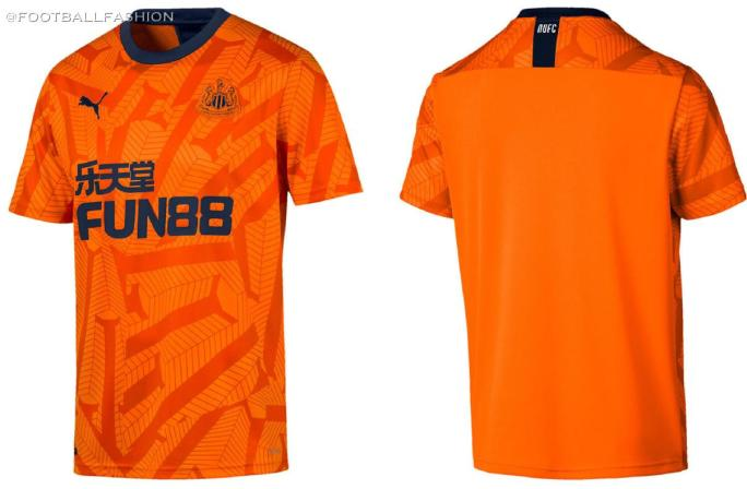 Newcastle United 2019 2020 PUMA Orange Third Football Kit, Soccer Jersey, Shirt, Camiseta de Futbol, Camisa, Maillot