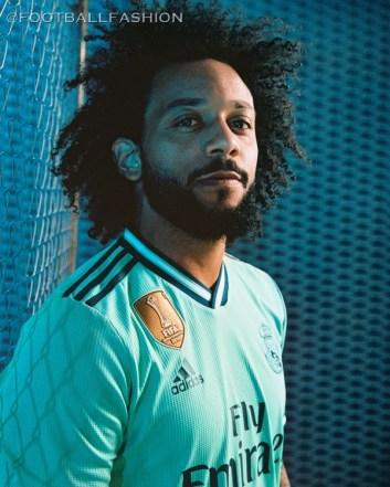 Real Madrid 2019 2020 adidas Green Third Football Kit, Soccer Jersey, Shirt, Camiseta, Camisa, Equipacion, Maillot, Trikot, Tenue, Camisola, Dres
