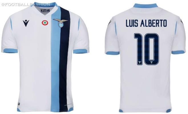 SS Lazio 2019 2020 Macron White Away Football Kit, Soccer Jersey, Shirt, Maglia, Gara, Camisa, Camiseta