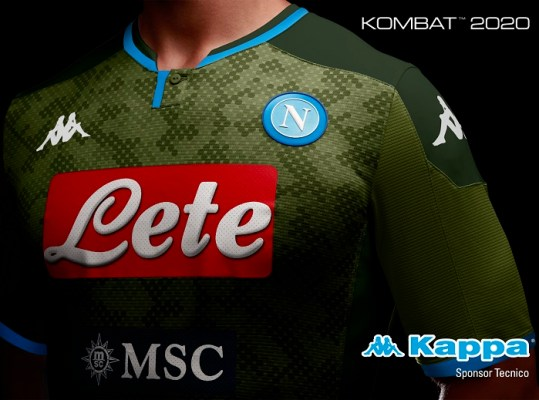 SSC Napoli 2019 2020 Kappa Away and Third Football Kit, Soccer Jersey, Shirt. Camiseta, Camisa, Gara, Maglia