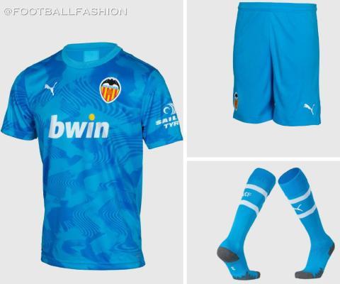 Valencia CF 2019 2020 PUMA Blue Third  Soccer Jersey, Shirt, Football Kit, Camiseta de Futbol