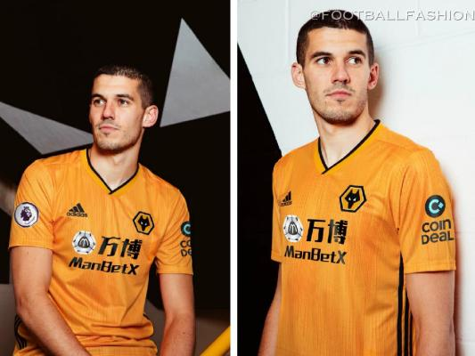 Wolverhampton Wanderers 2019 2020 adidas Home Football Kit, Soccer Jersey, Shirt, Camisa, Camiseta