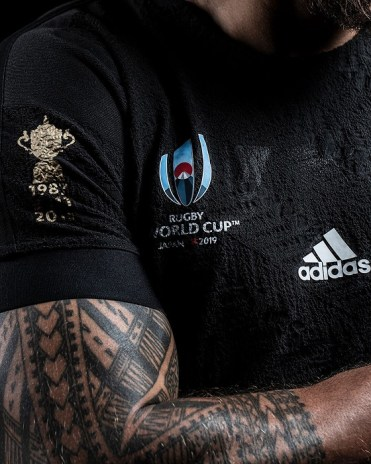 New Zealand All Blacks adidas 2019 Rugby World Cup Home Jersey, Kit, Shirt