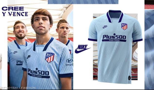 Atlético Madrid 2019 2020 Nike 1990s Third Football Kit, Soccer Jersey, Shirt, Camiseta de Futbol, Equipacion, Maillot, Trikot