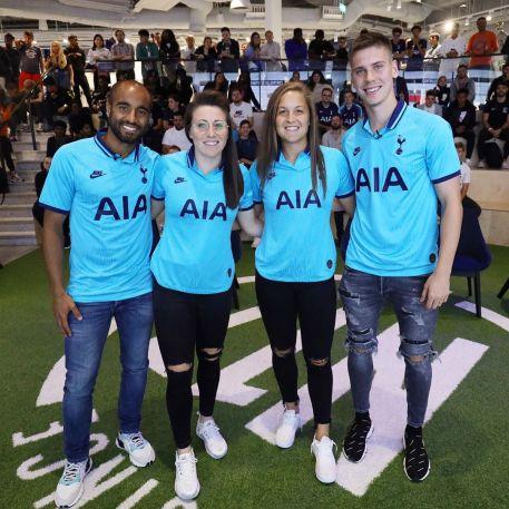 Tottenham Hotspur 2019 2020 Nike 90s Retro Blue Third Football Kit, Soccer Jersey, Shirt, Camiseta de Futbol, Camisa, Maillot, Trikot, Tenue, Dres