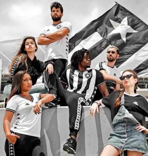 Botafogo 2019 2020 Kappa Home and Third Football Kit, Soccer Jersey, Shirt, Camiseta, Camisa