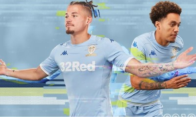Leeds United 2019 2020 Kappa Third Football KIt, Soccer Jersey, Shirt