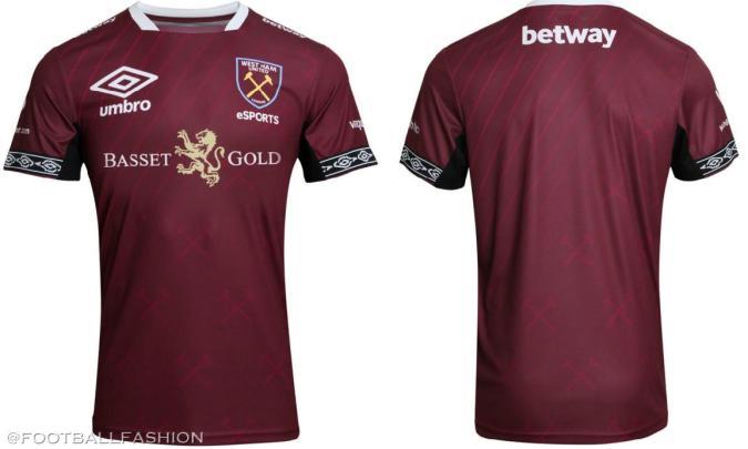 West Ham 2019 2020 Umbro eSports Football Kit, Soccer Jersey, Shirt