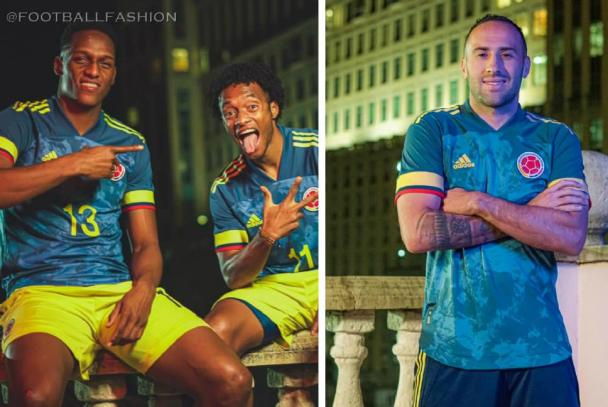 Colombia 2020 Copa América adidas Blue Away Soccer Jersey, Football Kit, Shirt, Camiseta de Futbol
