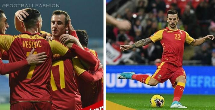 Montenegro 2019 2020 Legea Home Football Kit, Soccer Jersey, Shirt