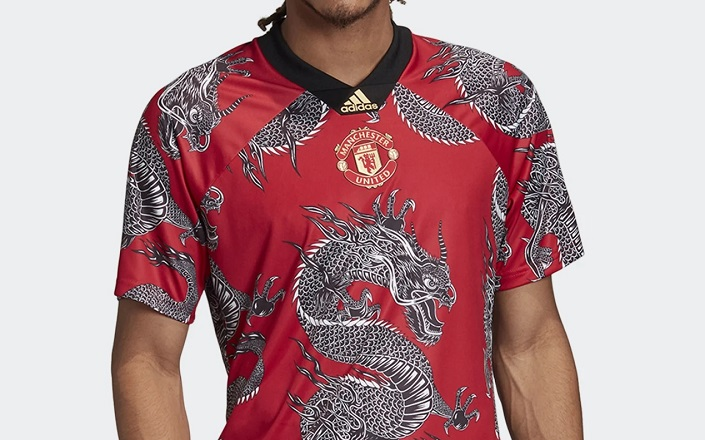 Manchester United 2020 Chinese New Year Adidas Jersey Football Fashion