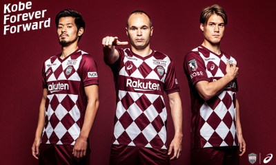 Vissel Kobe 2020 Asics Home Football Kit, Soccer Jersey, Shirt, Camiseta
