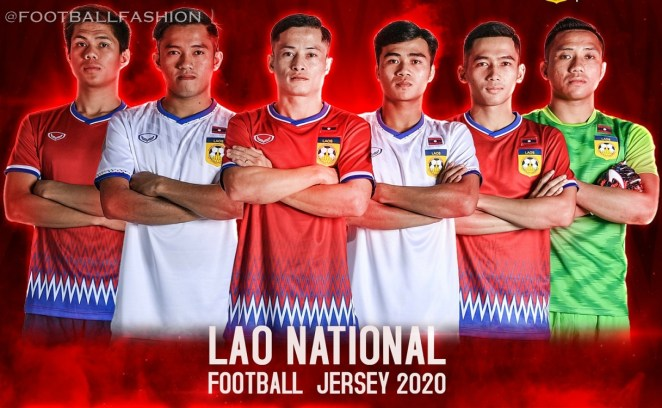 Laos 2020 Grand Sport Home and Away Football Kit, Soccer Jersey, Shirt