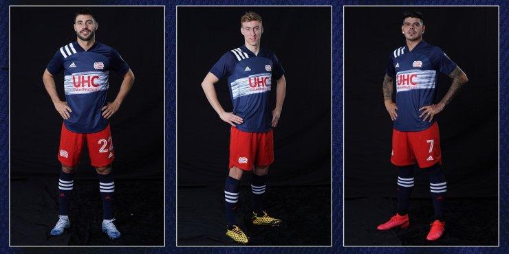 New England Revolution 2020 adidas Home Football Kit, Soccer Jersey, Shirt, Camiseta de Futbol