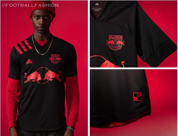 New York Red Bulls 2020 Dark Mode adidas Away Football Kit, Soccer Jersey, Shirt, Camiseta de Futbol