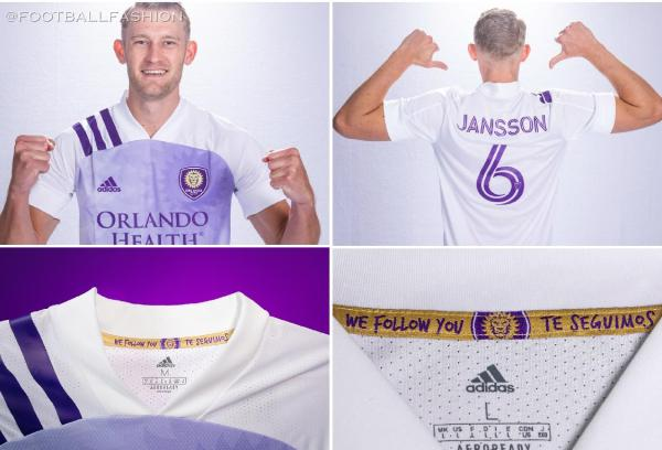 Orlando City SC 2020 adidas Away Soccer Jersey, Football Kit, Shirt, Camiseta de Futbol MLS