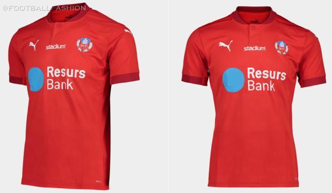 Helsingborgs IF 2020 PUMA Home Football Kit, Soccer Jersey, Shirt, Matchtröja