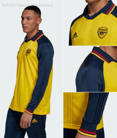 Arsenal FC 1990s-Inspired adidas Icon Football Kit, Soccer Jersey, Shirt