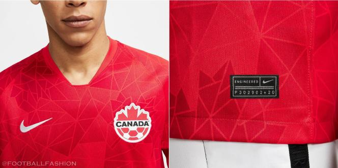 Canada 2020 2021 Nike Home Soccer Jersey, Football Kit, Shirt, Maillot