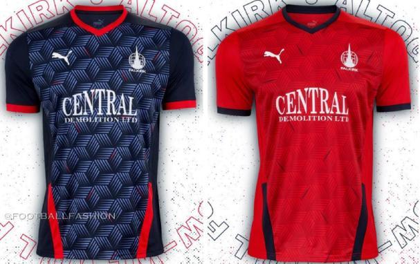 Falkirk FC 2020 2021 PUMA Home and Away Football Kit, Soccer Jersey, Shirt