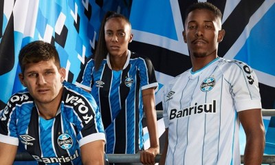 Grêmio 2020 2021 Umbro Home and Awa Football Kit, Soccer Jersey, Shirt, Camisa