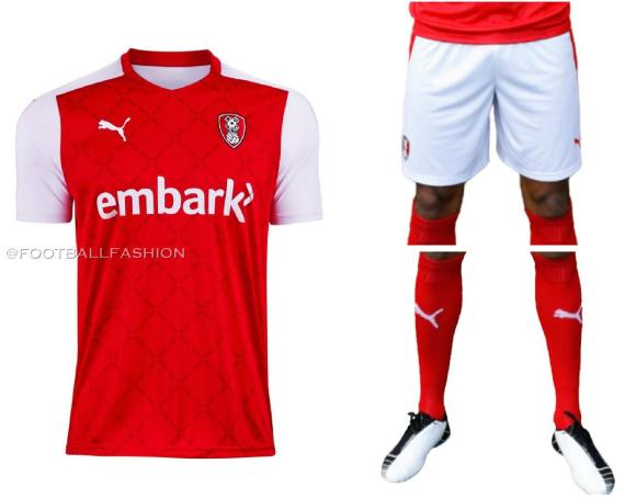 Rotherham United 2020 2021 PUMA Home Football Kit, 2020/21 Soccer Jersey, 2020-21 Shirt