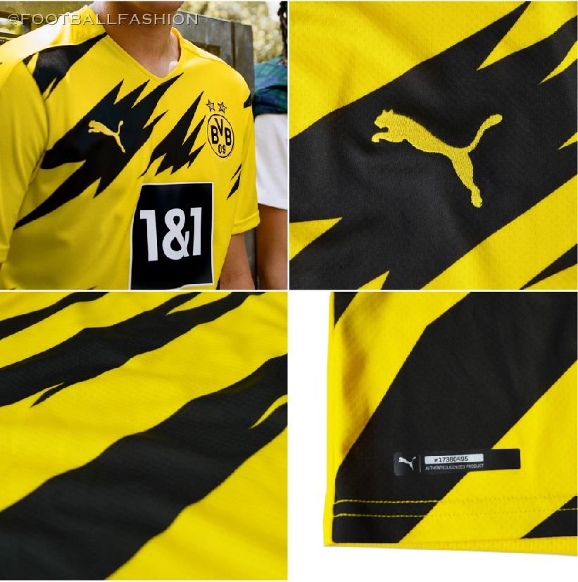 Borussia Dortmund 2020 21 Puma Home Kit Football Fashion