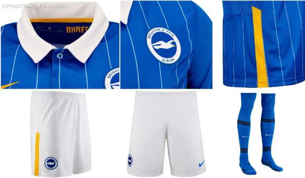 Brighton & Hove Albion 2020/21 Nike Home Football Kit, 2020-21 Soccer Jersey, 2020/21 Shirt