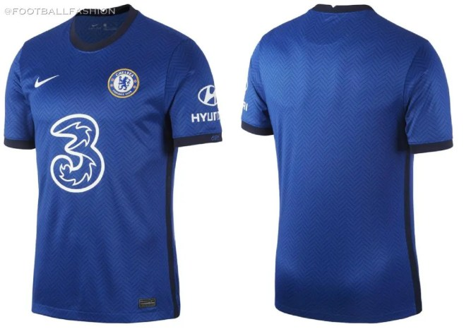 Chelsea FC 2020 2021 Nike Home Football Kit, 2020-21 Soccer Jersey, 2020/21 Shirt, Maillot, Camiseta, Camisa, Maglia, Gara, Trikot, Dres