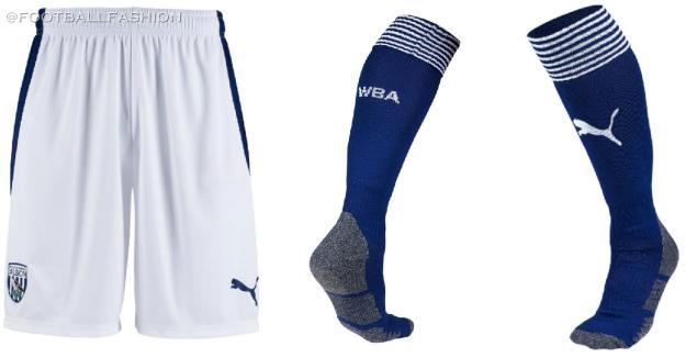 West Bromwich Albion 2020 2021 PUMA Home Football Kit, 2020-21 Soccer Jersey, 2020/21 Shirt