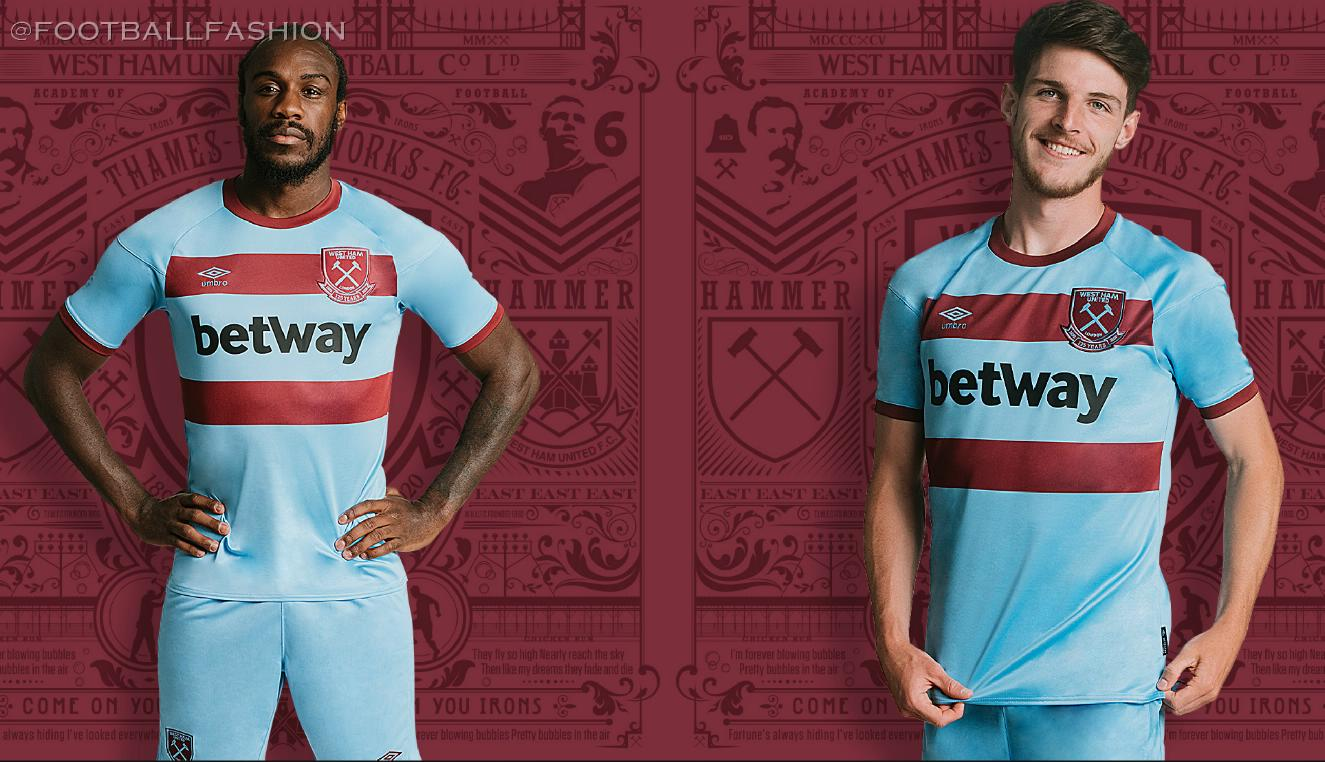 West Ham 2020/21 Umbro Away Kit - FOOTBALL FASHION.ORG