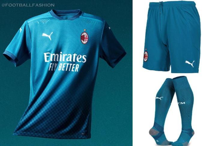 AC Milan 2020/21 PUMA Third Football Kit, 2020/21 Soccer Jersey, 2020-21 Shirt, Maglia, Gara, Camiseta, Camisa, Trikot