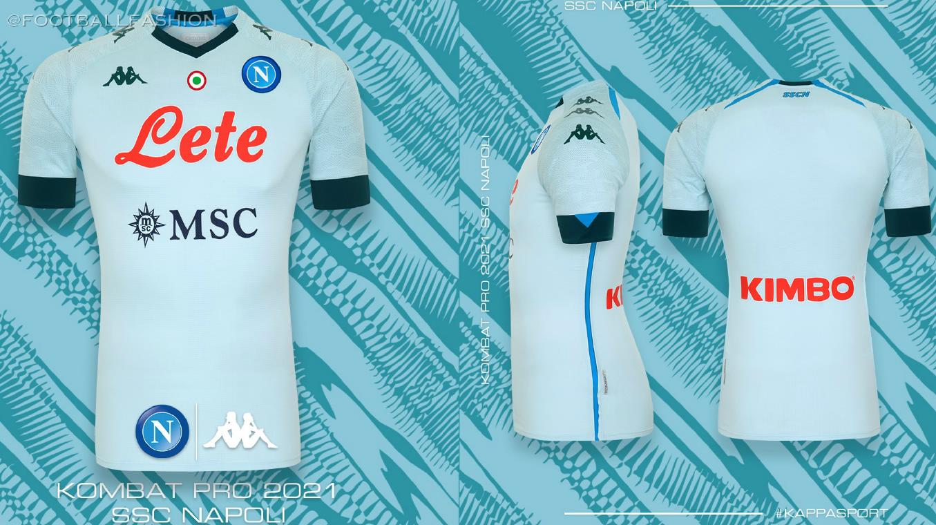 SSC Napoli 2020/21 Kappa Home, Away and Third Kits - FOOTBALL FASHION.ORG