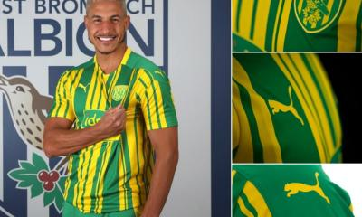 West Bromwich Albion 2020 2021 PUMA Away Football Kit, 2020-21 Soccer Jersey, 2020/21 Shirt