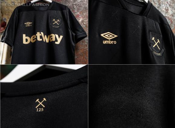 West Ham United 2020 2021 Umbro Black Third Football Kit, 2020-21 Soccer Jersey, 2020/21 Shirt, Camiseta, Maillot, Camisa, Trikot