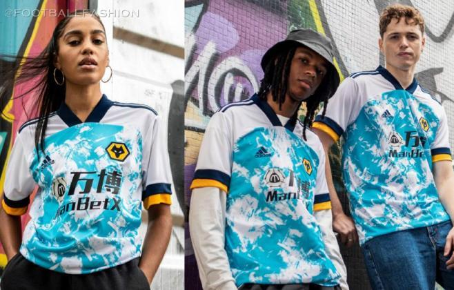 Wolverhampton Wanderers 2020 2021 adidas Away Football Kit, 2020-21 Soccer Jersey, 2020/21 Shirt, Camiseta, Camisa, Camisola