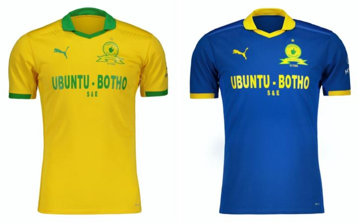 Mamelodi Sundowns 2020 2021 PUMA Home and Away Football Kit, 2020-21 Soccer Jersey, 2020/21 Shirt