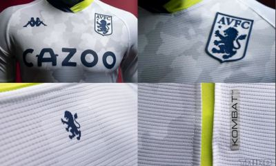 Aston Villa 2020 2021 Kappa Third Football Kit, 2020-21 Soccer Jersey, 2020/21 Shirt