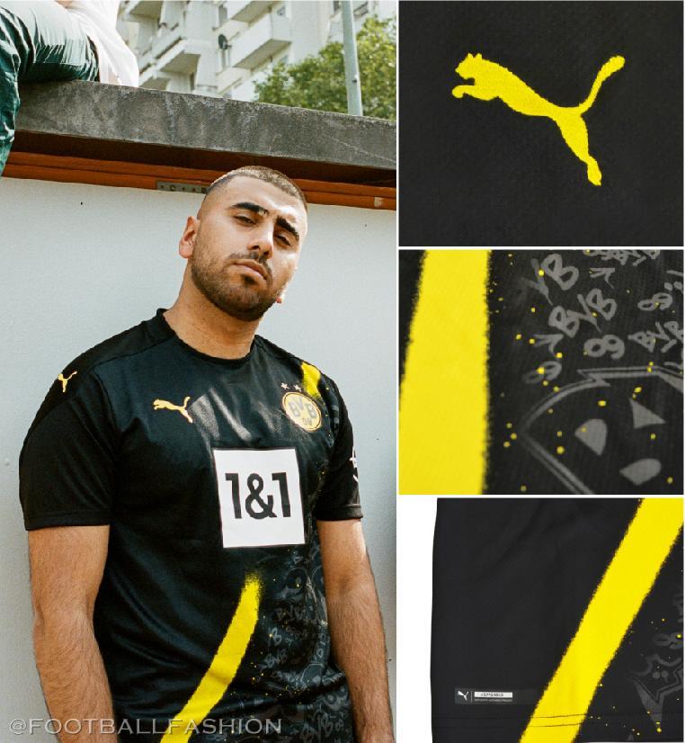 Borussia Dortmund 2020 21 Puma Away Kit Football Fashion