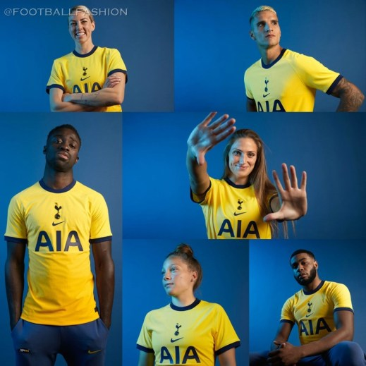 Tottenham Hotspur 2020/21 Yellow Nike Third Football Kit, 2020-21 Soccer Jersey, 2020/21 Shirt, Camiseta, Camisa, Maglia, Trikot