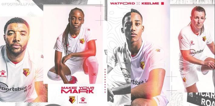 Watford 2020 2021 Kelme Away Kit, 2020-21 Football Kit, 2020/21 Soccer Jersey