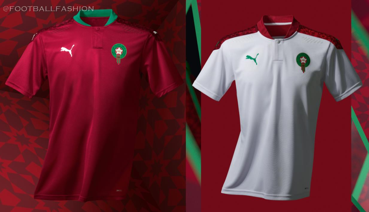 Morocco 2020/21 PUMA Home and Away Kits - FOOTBALL FASHION